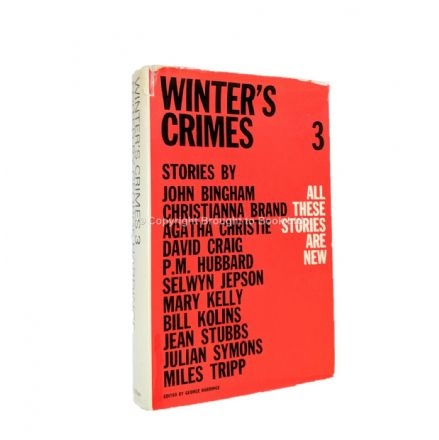Winter's Crimes 3 Featuring Agatha Christie and John Bingham First Edition published by Macmillan 19